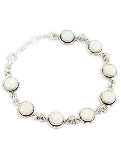 Armband Moonlight Bouquet - weißer Opal