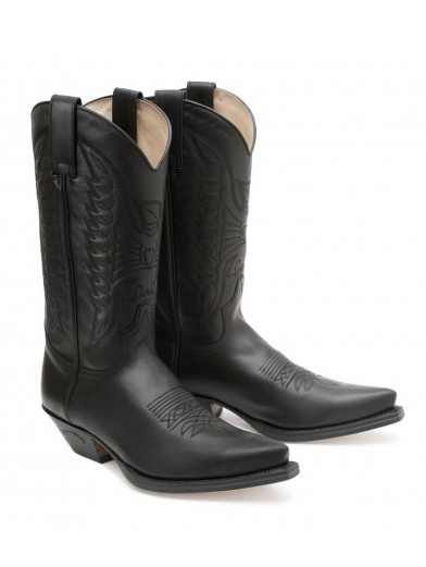 Sendra Western Boots Classic Eaglequilting - schwarz