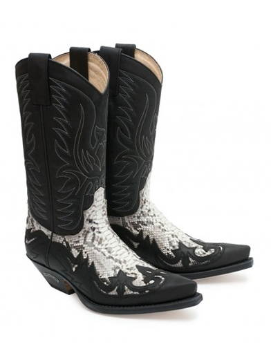 Sendra Western Boots Exotic Real Python Natural