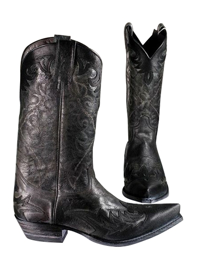Sendra Western Boots Crushed Overlay - schwarz