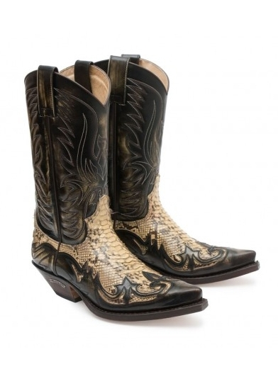 Sendra Western Boots Exotic Real Python Barriga