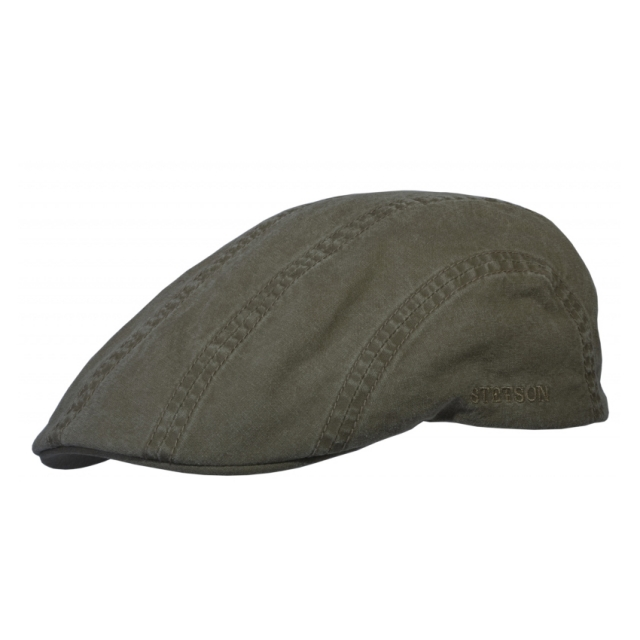 Stetson Flatcap Madison Organic Cotton - olive