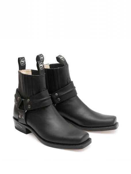 Sendra Ankle Boots Classic Small Bootsstraps - schwarz