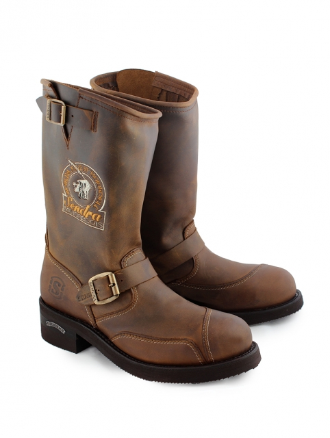 Sendra Engineer Boots Steel, Indian Head - braun