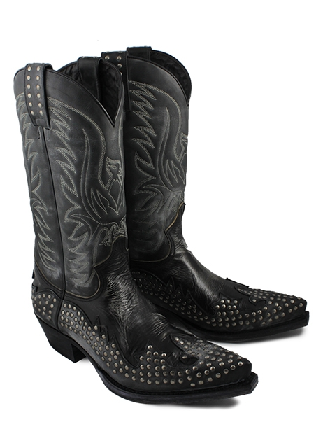 Sendra Western Boots Snowcer Negro Fashion rivetted