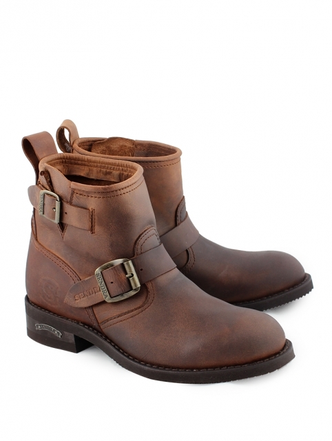 Sendra Engineer Ankle Boots - braun