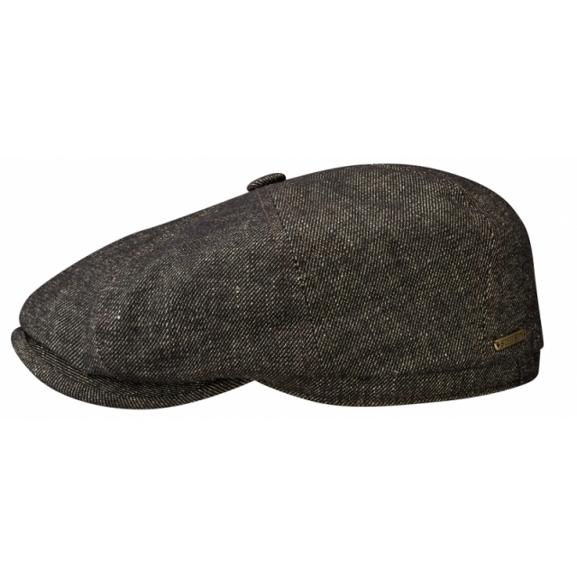 Stetson Flatcap Fairbanks Wool Denim - braun meliert
