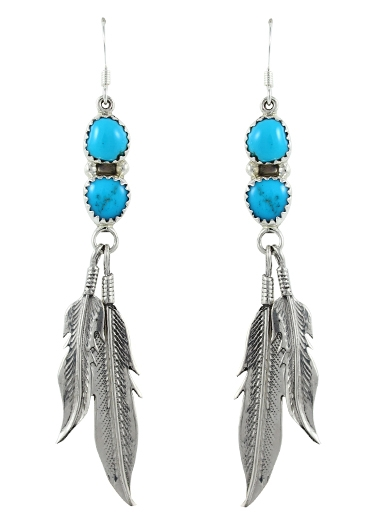 Ohrh�nger Large Flying Turquoise Twins
