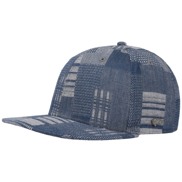 Stetson Baseball Cap Denim Patchwork