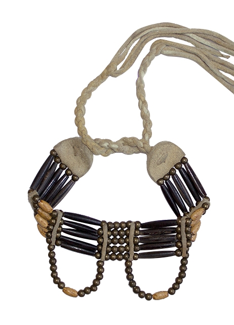 Hornkette Black Buffalo Choker, Plains Indian Arts