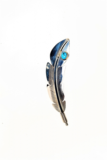 Brosche Indian Quill, Navajo Art - Türkis*