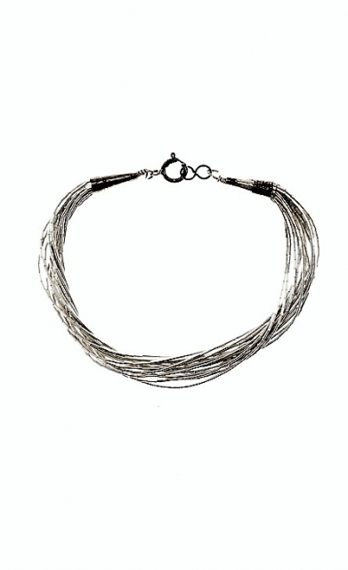 Armband Plaited Silver, Southwest Art - pur Sterlingsilber