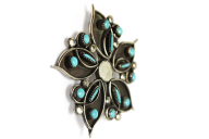 Indianerschmuck Zuni Brosche Flower