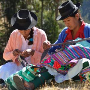 Sitten Peruanische Stickerinnen